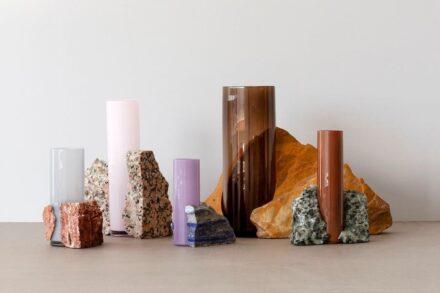 "Vases from the series ""Drill"" by Swedish designer Erik Olovsson."