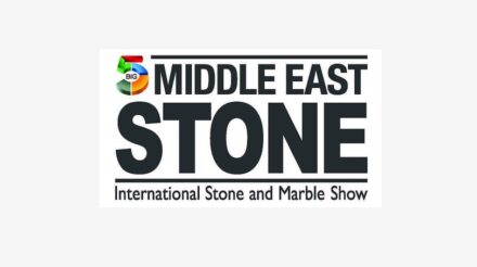 Logo of the Middle East Stone trade fair.