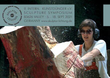 Plakat zum 9. Internationalen Bildhauer-Symposium auf der Skulptur-Lichtung.