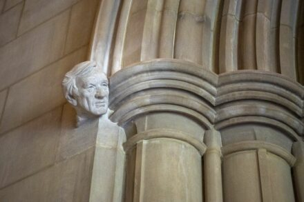 Bust of Elie Wiesel in the Washington National Cathedral.