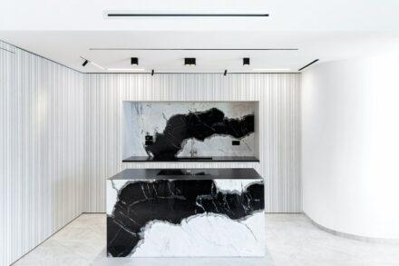 Dalmata marble for the kitchen.