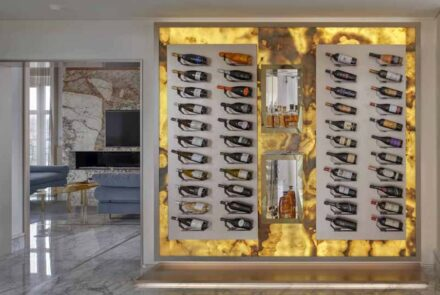 "Studio Marco Piva, private home in the heart of Padua: wine ""cellar""."