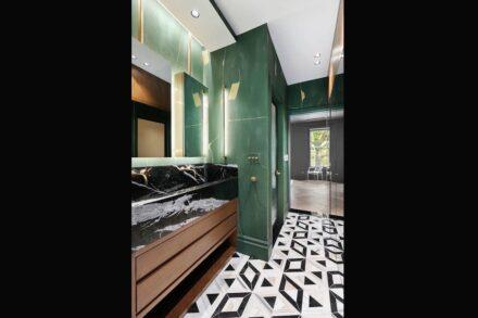 CID awards 2021, design category: Residential Stone Design: Brooklyn Townhouse Renovation, MHLI, Brooklyn, NY.