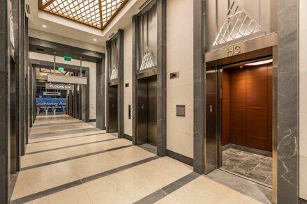 CID awards 2021, installation category: Commercial Stone Installation: Legacy Union, Camarata Masonry Systems, Ltd., Charlotte, NC.