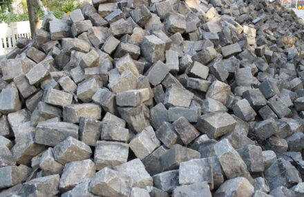 Natural stone is much used in road construction.