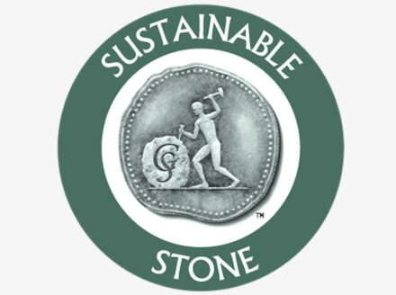 The logo of the Natural Stone Sustainability Standard Certification.