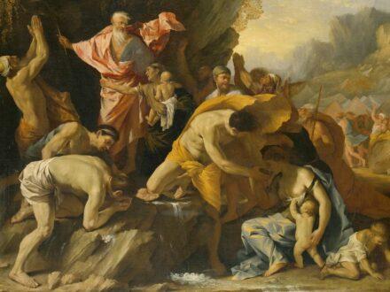 """""""Moses striking the rock"""" (detail), Pietro Testa (1611-1650). Source: <a href=""""https://brandenburg.museum-digital.de/index.php?t=objekt&oges=11739""""target=""""_blank"""">Bildergalerie Stiftung Preußische Schlösser und Gärten </a>"""
