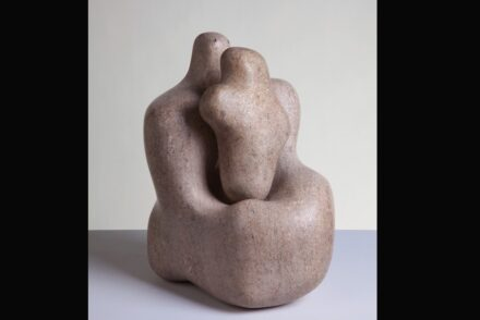 Barbara Hepworth, Mother and Child, 1934. Pink Ancaster stone. Purchased by Wakefield Corporation in 1951. Barbara Hepworth © Bowness.