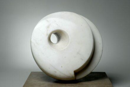 Barbara Hepworth, Pierced Hemisphere, 1937. White marble. The Hepworth Wakefield (Wakefield Permanent Art Collection) Barbara Hepworth © Bowness. Photo: Norman Taylor