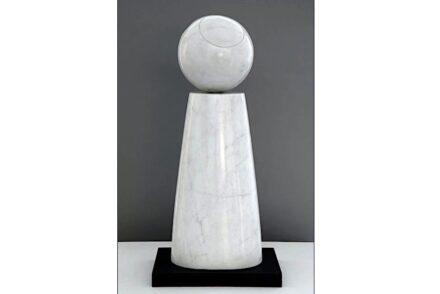 Barbara Hepworth, Cone and Sphere, 1973. White marble. Hepworth Estate, on long loan to The Hepworth Wakefield (Wakefield Permanent Art Collection) Barbara Hepworth © Bowness. Photo: Mark Heathcote