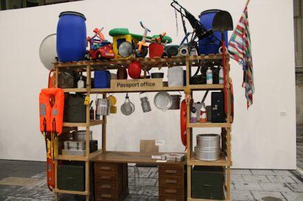 "Lucy + Jorge Orta: ""Antarctica Passport Office"", an ironic look at immigration authorities. Photo: Silke Briel / Stiftung für Kunst und Kultur, Bonn"