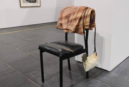 """Tatiana Prouvé: """"The Guardian"""", onyx as an imitation of fabric."""