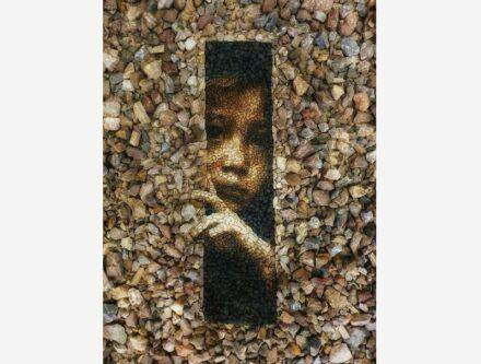 Pebble art by Justin Bateman.