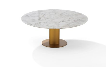 """Draenert: Table """"Nelly"""" with metal base."""