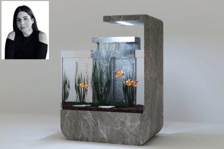 "Esra Yücetürk, Haz Marble company: in ""Luna"", the natural stone brings naturalness to the aquarium."