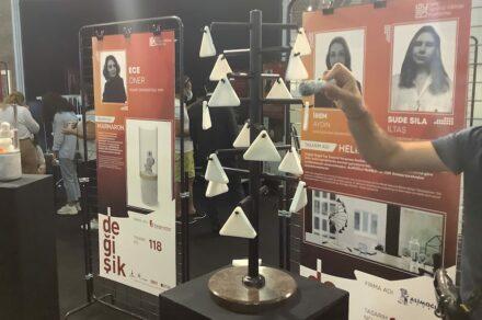 "Irem Aydin, Sude Sila Iltaş, Alimoğlu Marble company (Afyon): ""Helix"" is a carillon made of stone."