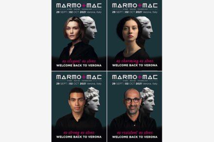 Plakatkampagne Marmomac 2021.