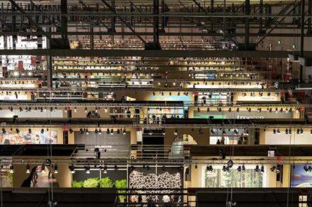 View into one of the halls. Photo: Andrea Mariani / Salone del Mobile