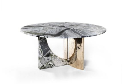 """""""Spinnaker"""" table by Luca Erba for <a href=""""https://hessentia.com/""""target=""""_blank"""">Cornelio Cappellini </a> company."""