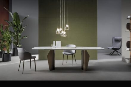 """Flame"" table by Gino Carollo for <a href=""https://bonaldo.com/""target=""_blank"">Bonaldo</a> company."