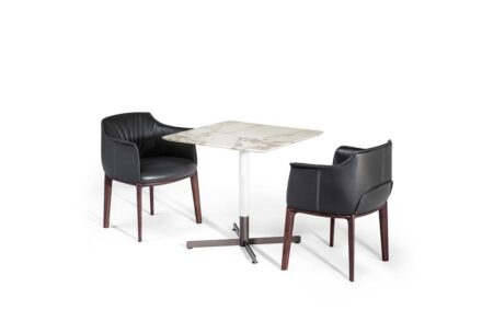"Tables ""Bob"" by Jean-Marie Massaud for <a href=""https://www.poltronafrau.com/""target=""_blank"">Poltrona Frau</a> company."