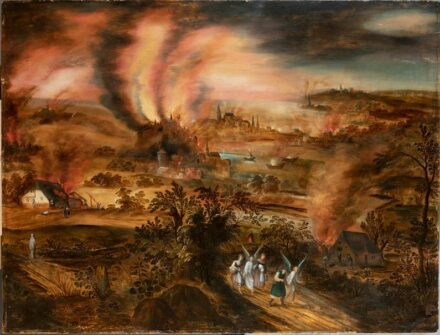 """Joos de Momper II (1564 -1635): """"Lot and his daughters fleeing Sodom and Gomorrah"""". Musée de Flandre Cassel / <a href=""""https://commons.wikimedia.org/""""target=""""_blank"""">Wikimedia Commons</a>, <a href="""" https://en.wikipedia.org/wiki/Creative_Commons_license""""target=""""_blank"""">Creative Commons License</a>"""